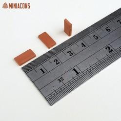 BALDOSA RECTANGULAR / TEJA PLANA ROJA 11 mm